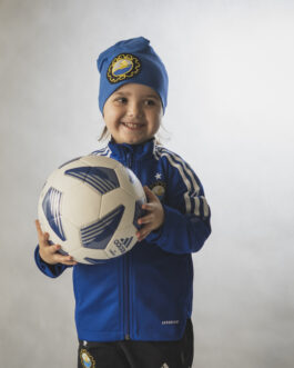 Bluza piłkarska Adidas dziecięca niebieska