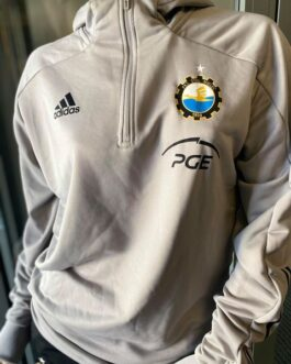 Bluza treningowa z kapturem FKS Stal Mielec Adidas ekstraklasa 20/21 szara