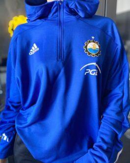 Bluza treningowa z kapturem FKS Stal Mielec Adidas ekstraklasa 20/21 niebieska