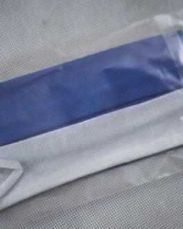 Maseczka biało-niebieska