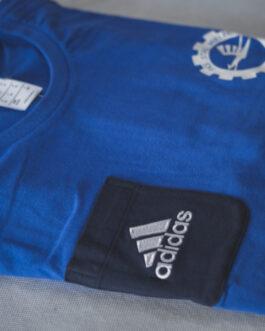 Koszulka bawełniana treningowa Adidas FKS Stal Mielec (niebieska)