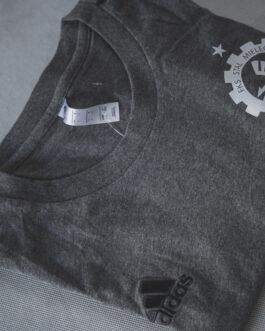 Koszulka bawełniana treningowa Adidas FKS Stal Mielec (ciemna szara)