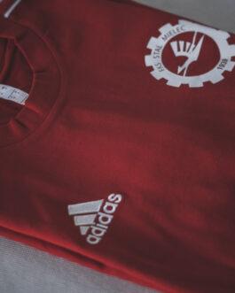 Koszulka bawełniana treningowa Adidas FKS Stal Mielec (czerwona)