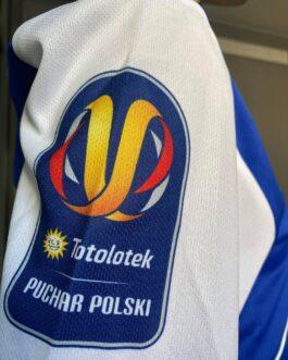 Koszulka pomeczowa Puchar Polski FKS Stal Mielec z nazwiskiem oraz numerem zawodnika