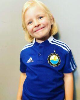 Koszulka adidas polo TIRO21 dziecięca granatowa FKS Stal Mielec