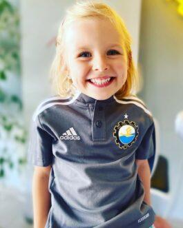 Koszulka adidas polo TIRO21 dziecięca szara FKS Stal Mielec