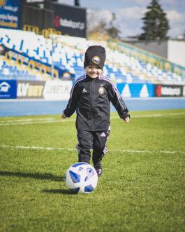 Spodnie piłkarskie  FKS Stal Mielec Adidas dziecięce czarne