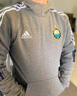 Szara bluza piłkarska adidas TIRO21 SweatHoody FKS Stal Mielec szara