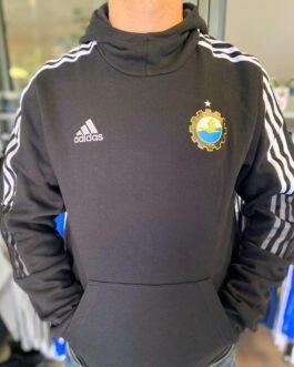 Bluza piłkarska adidas TIRO21 SweatHoody FKS Stal Mielec czarna