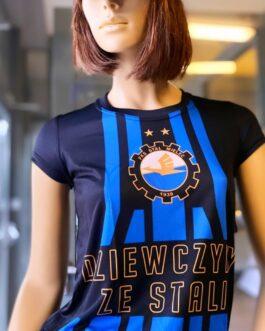 """Koszulka damska czarna """"DZIEWCZYNY ZE STALI"""""""