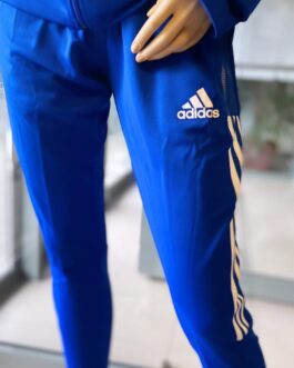 Spodnie piłkarskie adidas TIRO21 TRAINING niebieskie FKS Stal Mielec